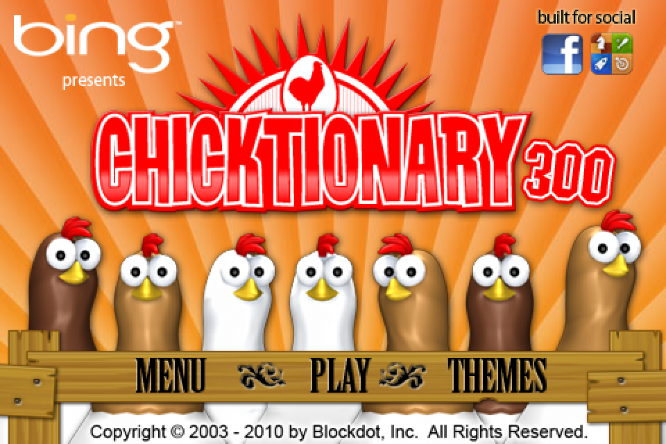 Chicktionary 300 Screenshot 1